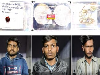 Police arrested for stealing liquor with goods