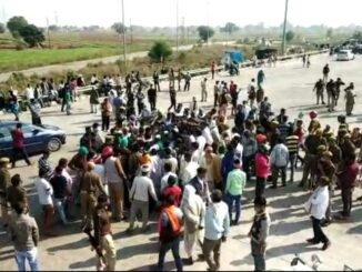 In protest against lathi charge on farmers, farmer group 'Bhanu' agitated on expressway toll, jammed