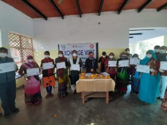 31 women workers received painting training in collaboration with UPGMS, letter given by labor change officer