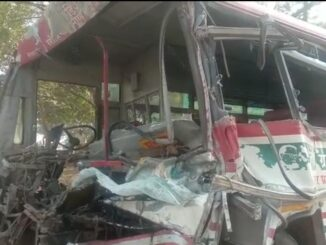 Roadways bus filled with riders entered in a standing truck, one woman passenger killed and several injured