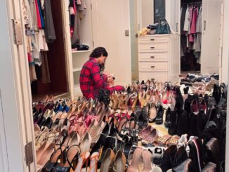 Actress Kangana Ranaut appeared amidst a pile of shoes
