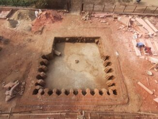 Ancient tank and water fountain of Mughal design found in Fatehpur Sikri