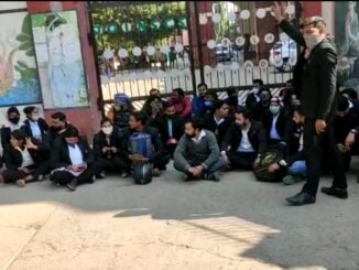 Law student protest demonstration at main gate of Agra University, adamant on this demand