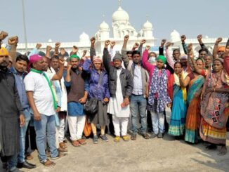 Hundreds of farmers going to Delhi were stopped by Agra Police, picketing started at Gurudwara itself