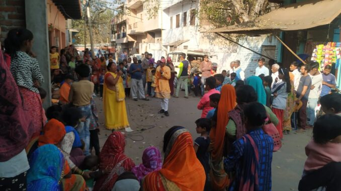 Message given to prevent TB and AIDS through street plays, health camp organized