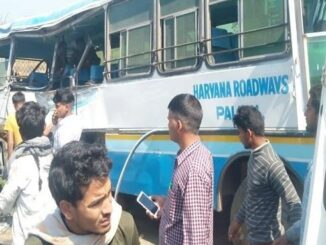 Fierce collision in buses of Haryana depot in Aligarh, outcry due to death of 5 passengers