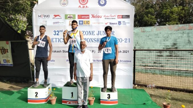 Arjun Sharma of Agra wins gold in U-16 javelin throw, achieved by playing for Delhi