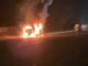 Fire in moving car, driver saved life by jumping