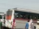 Current of high-tension line ran in bus, one killed, many injured