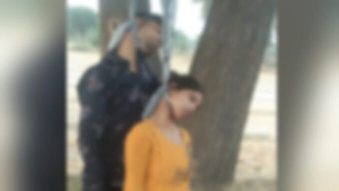 Dead body of young man and woman found hanging on the same trap, fear of suicide in love affair