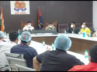 IG meeting with social workers-doctors to fix arrangements after the administrative machinery failed