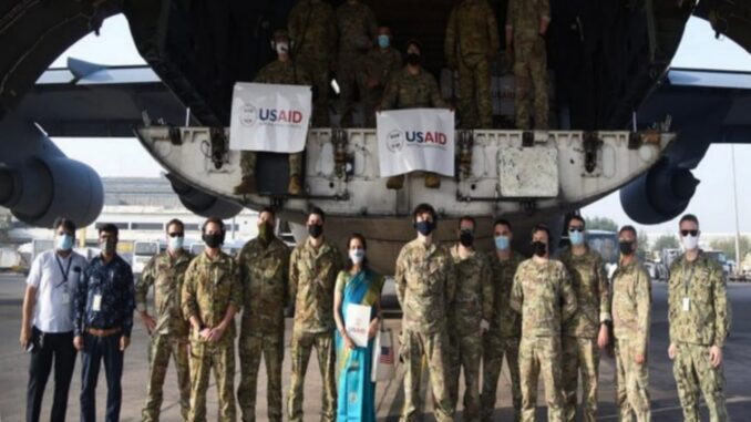 Allied hands in India's difficult time of epidemic, sent help