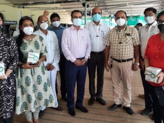 Distribution of life saving material in rural labor organization to doctors serving in vaccination centers