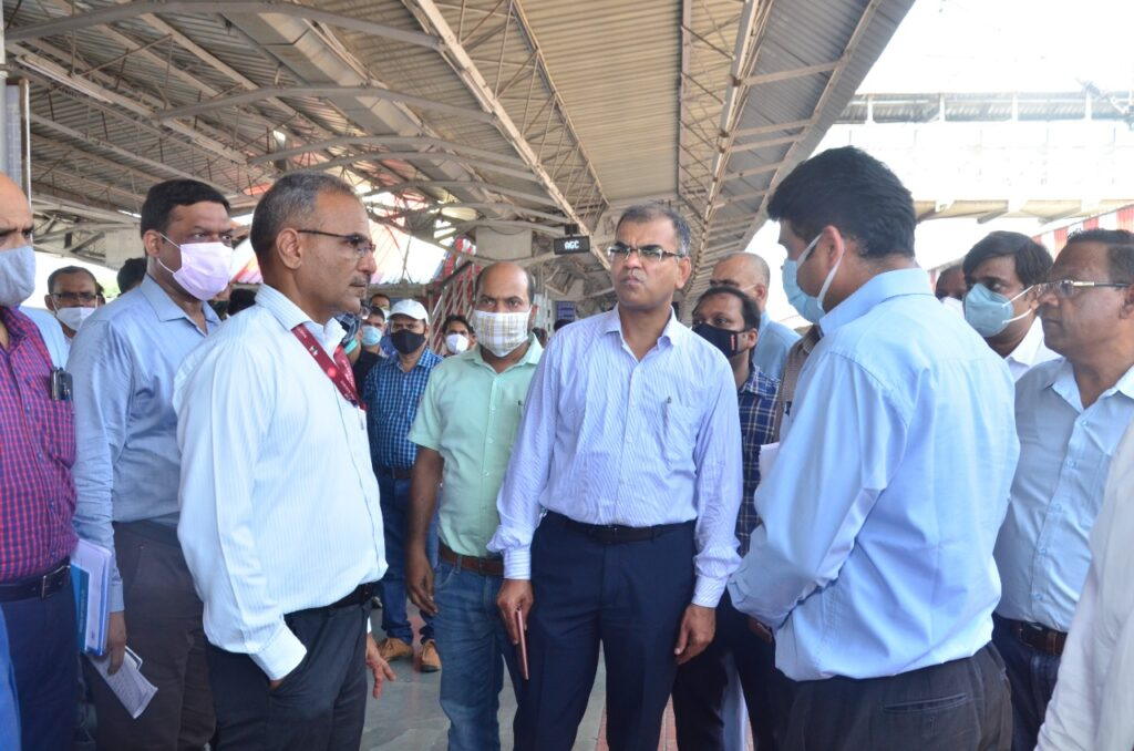 NCR Railway General Manager Pramod Kumar inspected the 160 km speed project