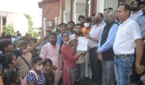 ABVP's ruckus in Agra University over the problems of students, gave this ultimatum