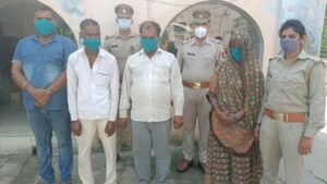 Raid in guest house on information of prostitution in Tajganj, 4 arrested including two women