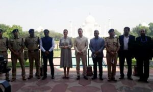 Denmark's PM Mette Fredriksson visited the Taj Mahal, posed for photos with husband Bo Tenberg